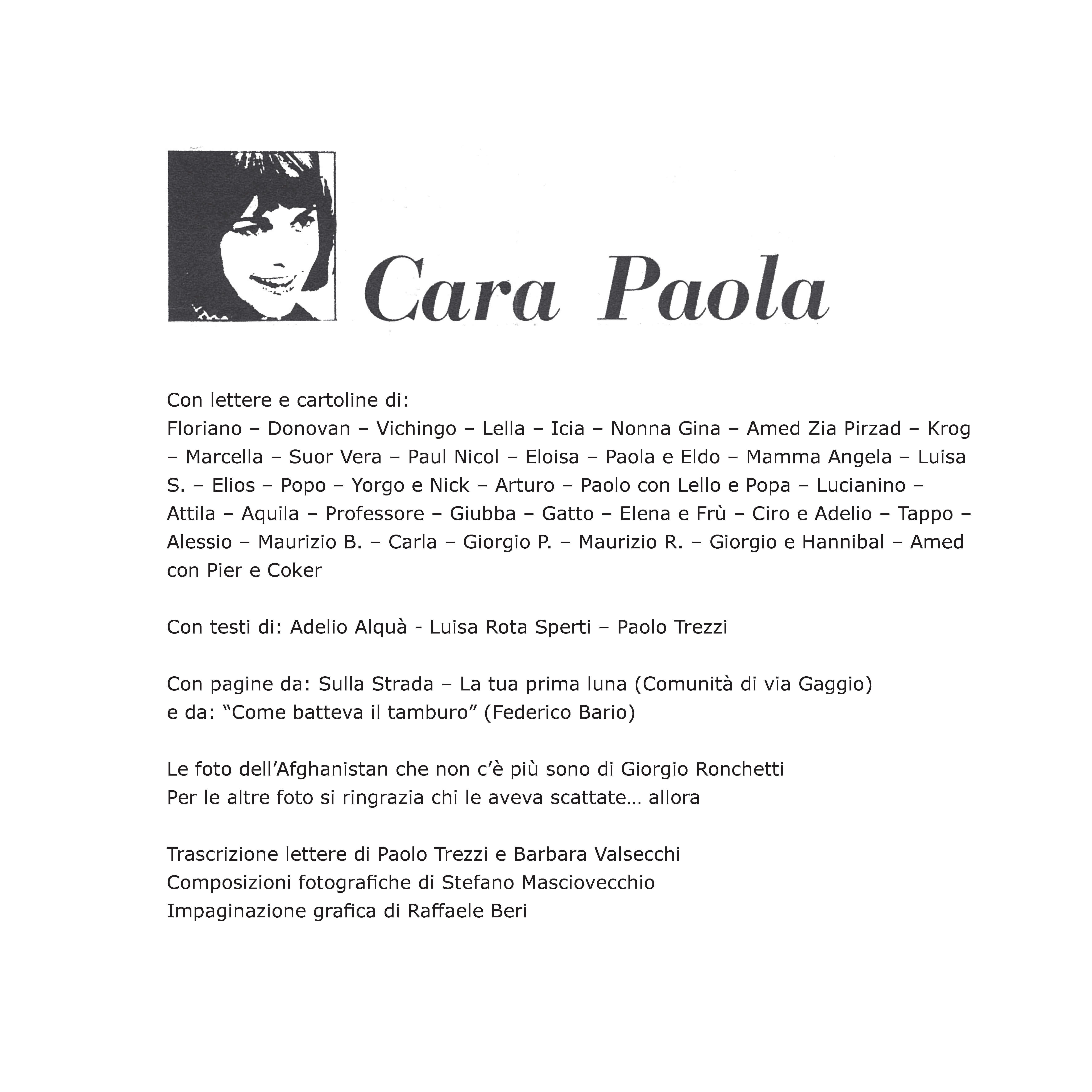 Dal libro: Cara Paola